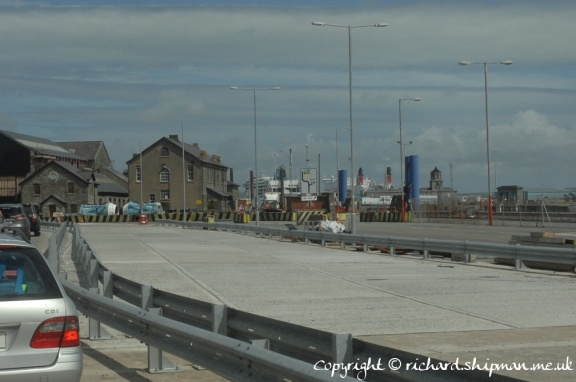 First sight of the Stena Adventurer