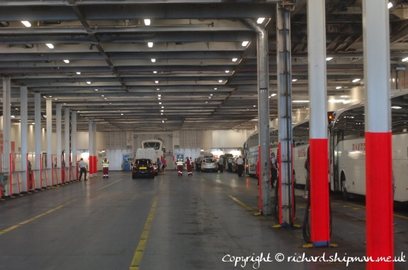Inside the Stena Adventurer